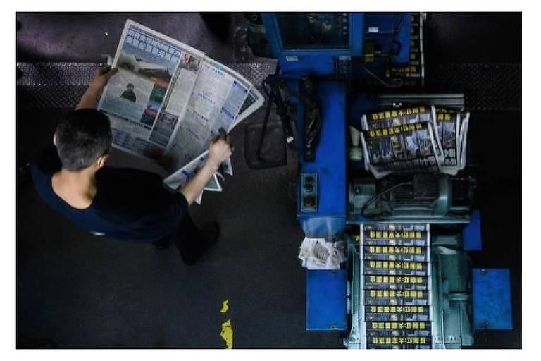 Apple Daily, de Hong Kong, prepara a sua última edição