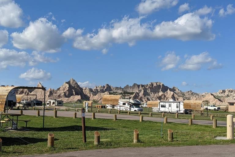 Veja imagens do Parque Nacional Badlands, que abrigou 'Nomadland'
