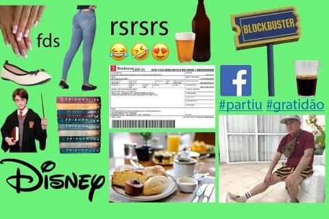 De café da manhã a calça skinny, geração Z definiu símbolos dos millennials que considera mais 'cringe' (Foto: Reprodução/@greengodictionary no Instagram)