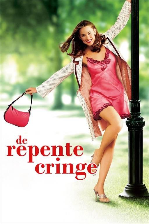 Cartaz com a atriz de 'De repente 30', mas com o título 'De repente cringe'