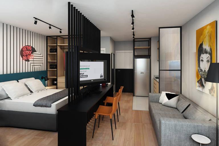 Arte de apartamento compacto