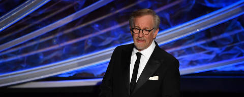 (FILES) In this file photo US director Steven Spielberg speaks onstage during the 92nd Oscars at the Dolby Theatre in Hollywood, California on February 9, 2020. - Steven Spielberg will produce multiple new films for Netflix every year, the company said on June 21, 2021, in a major deal that highlights how fully Hollywood has embraced streaming platforms. The partnership with arguably Tinseltown's top director is a coup for Netflix at a time when competition with streaming rivals including Disney+ and HBO Max is heating up. (Photo by Mark RALSTON / AFP)