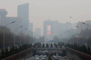 Hazy day in Beijing
