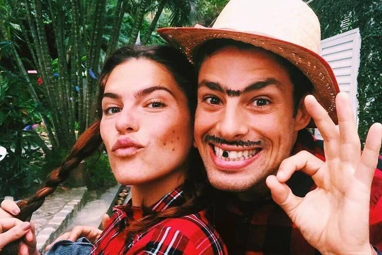 Cauã Reymond encara um São João com Mariana Goldfarb