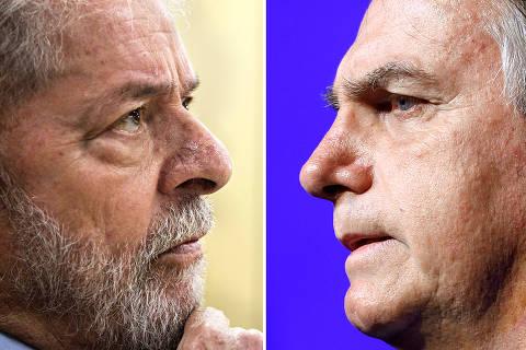Datafolha: Lula segue à frente de Bolsonaro e, no 2º turno, tem 56% contra 31%