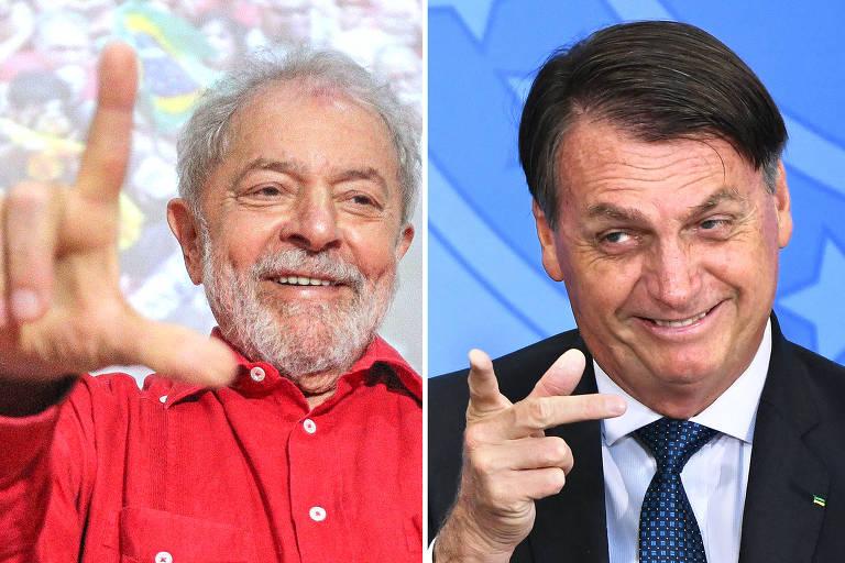 Luiz Inácio Lula da Silva e o presidente Jair Bolsonaro
