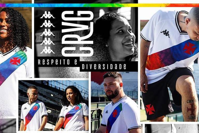 Vasco lança camisa especial e promove ações para o Dia do Orgulho LGBTQIA+