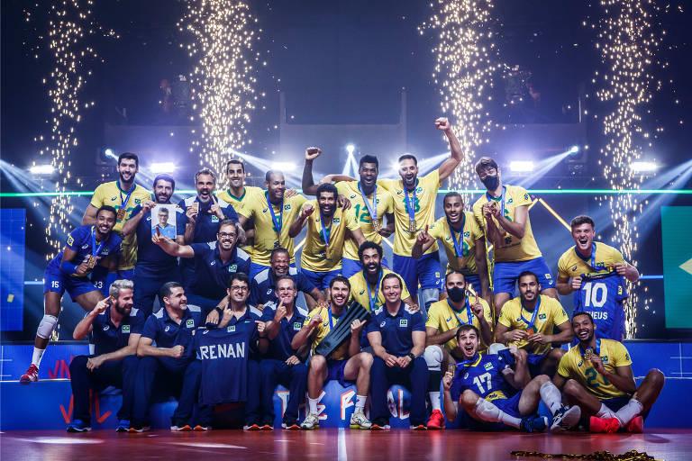 Seleção brasileira masculina na Liga das Nações de 2021