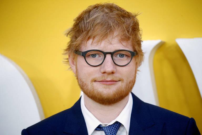 """Ed Sheeran durante a première de """"Yesterday"""", em Londres (Inglaterra), em 2019"""