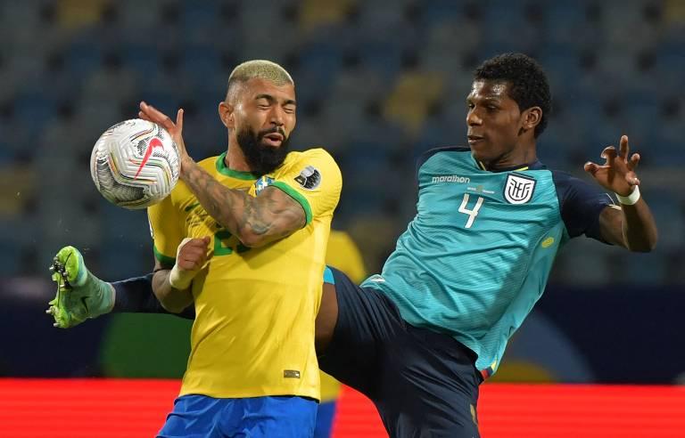 Na triste Cova América, sem Neymar, Brasil joga mal contra o Equador