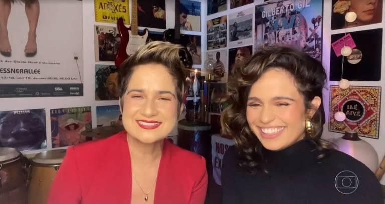 Atriz Nanda Costa e Lan Lan anunciam que serão mães de gêmeas