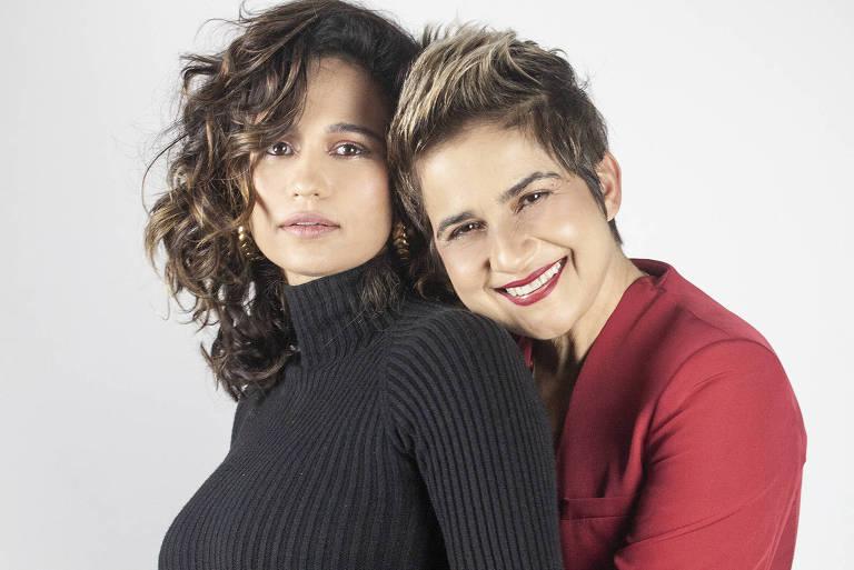 Atriz Nanda Costa e Lan Lan serão mães de gêmeas