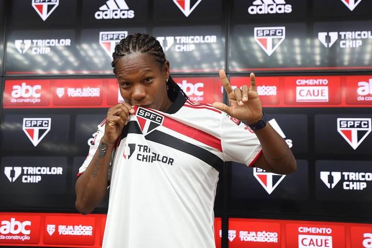 Jogadora Formiga, 43, é apresentada como novo reforço do São Paulo