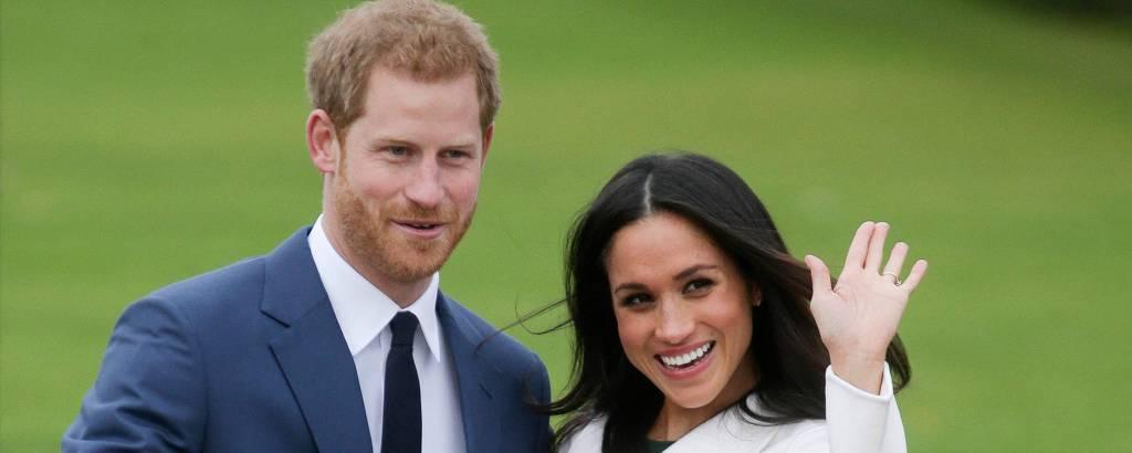 Harry e Meghan Markle no Palácio de Kensington