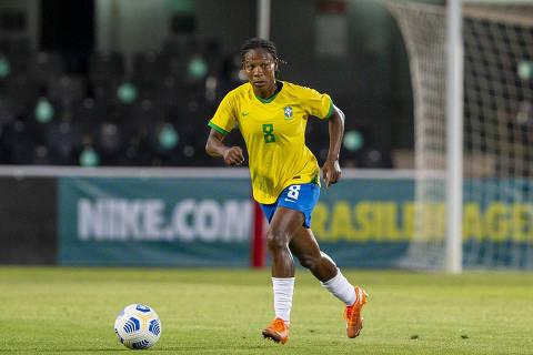 11 de junho de 2021: Formiga durante amistoso da seleção brasileira contra a Rússia (Crédito: Richard Callis/CBF)