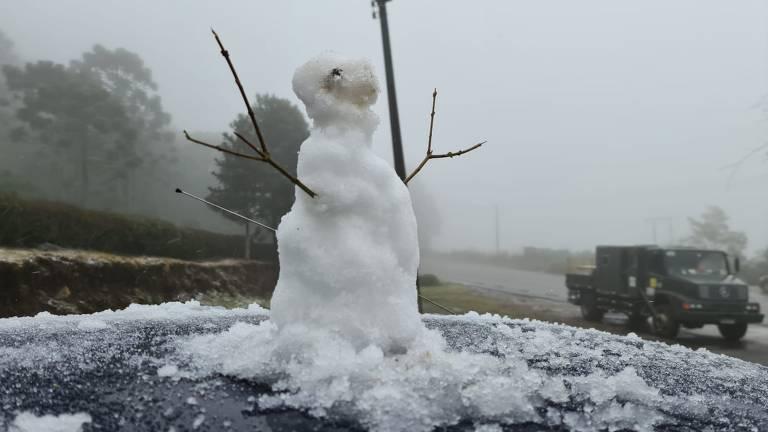 Primeira neve de 2021 em São Joaquim (SC)