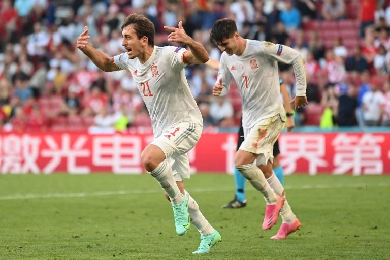 Espanha vence a Croácia em jogo da Eurocopa com mais gols e reviravoltas