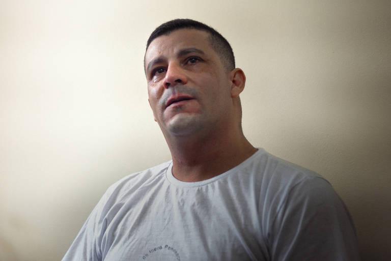 Trabalhador rural José Aparecido Alves Filho, preso há sete anos sem provas, na Penitenciária de Iperó, interior de SP
