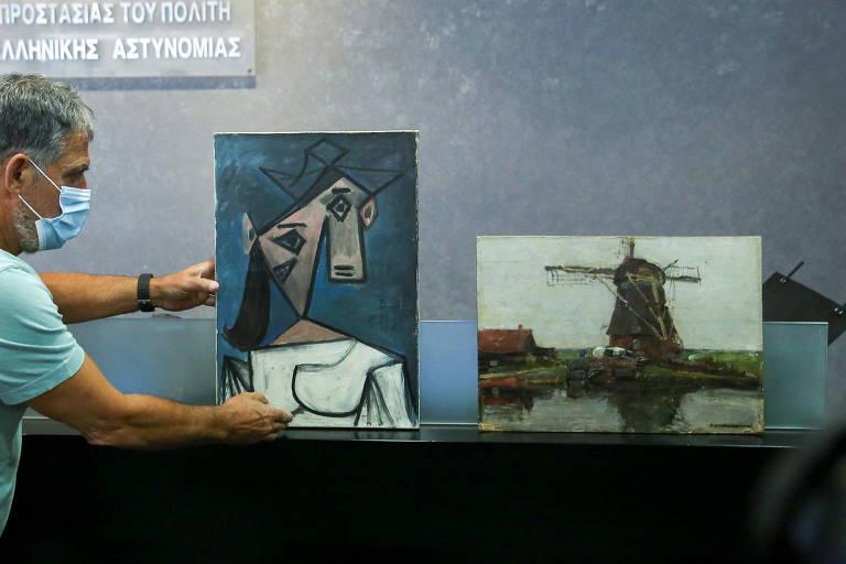 Obras de Picasso e Mondrian roubadas em 2012 são encontradas na Grécia