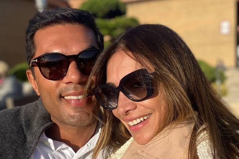 O brasileiro Erick de Moura com a namorada, Fernanda; ele morava no condomínio Champlain Towers South, em Miami, que desabou, e estava na casa dela no momento da tragédia