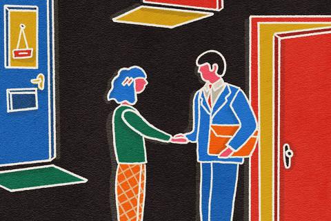 Ilustrações para o caderno especial sobre Open Banking