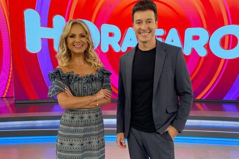 Eliana e Faro participam do programa um do outro em ação publicitária