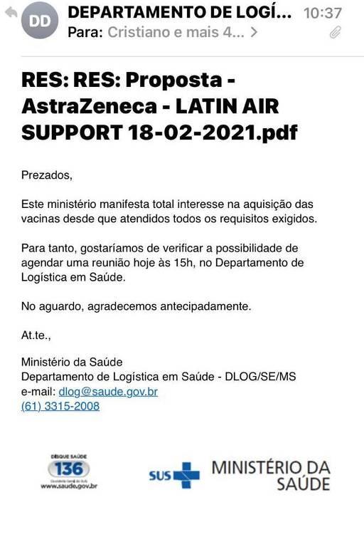 Emails mostram negociação do governo Bolsonaro com empresa que denunciou cobrança de propina