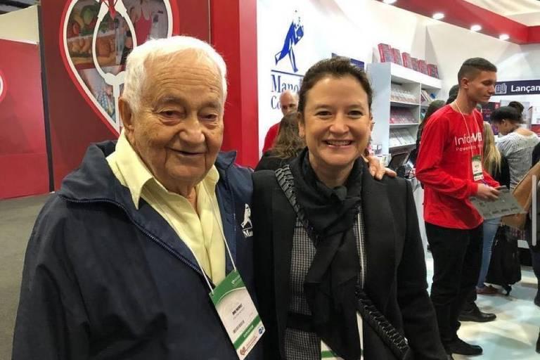 Dinu Octav Manole (1932-2021) com a filha Amarylis Manole