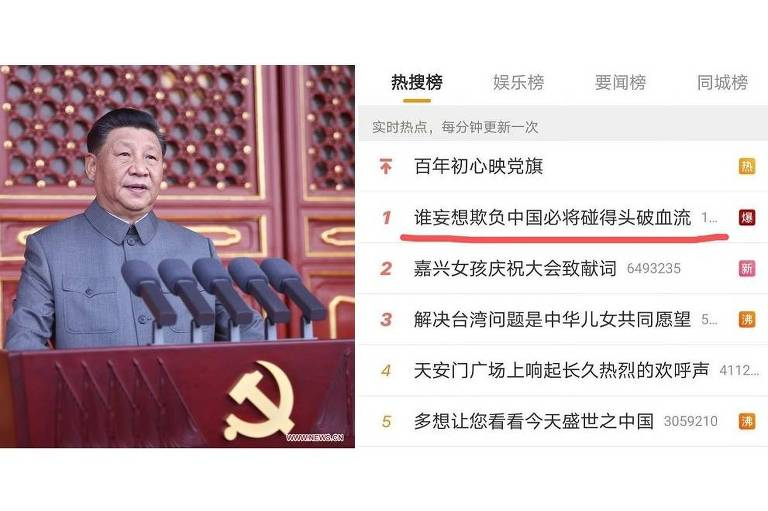 'Advertência' de Xi ecoa na mídia social chinesa e na imprensa americana