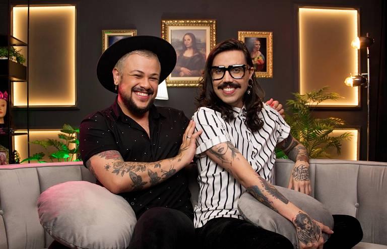 Eduardo Camargo (Edu) e Filipe Oliveira (Fih) o casal da Diva Depressão