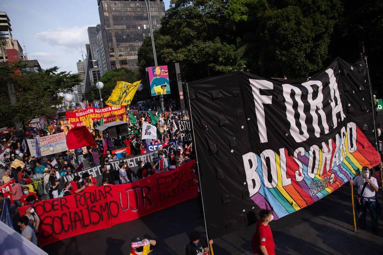 Manifestantes vão às ruas no Brasil e no exterior em novos atos contra Bolsonaro - 03.07.21
