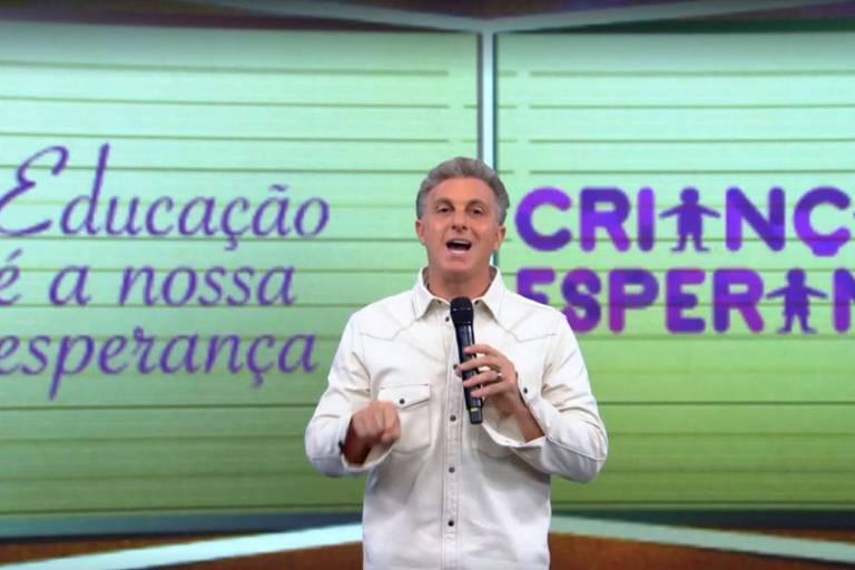 Luciano Huck fala sobre Criança Esperança no Caldeirão