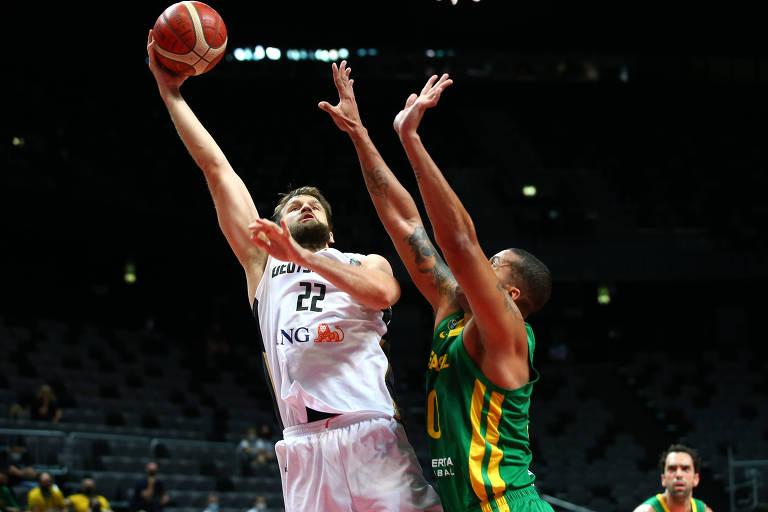 Brasil luta, mas sonho olímpico do basquete acaba contra Alemanha