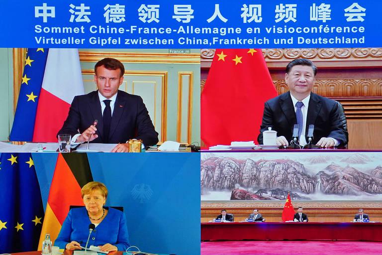 Xi pede a Merkel e Macron maior cooperação entre China e União Europeia