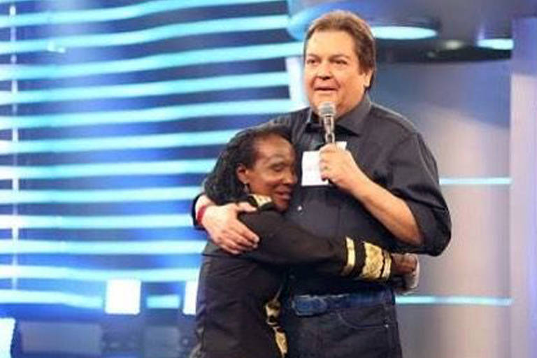 Mary Jackson (Maria José Gomes ) com Fausto Silva