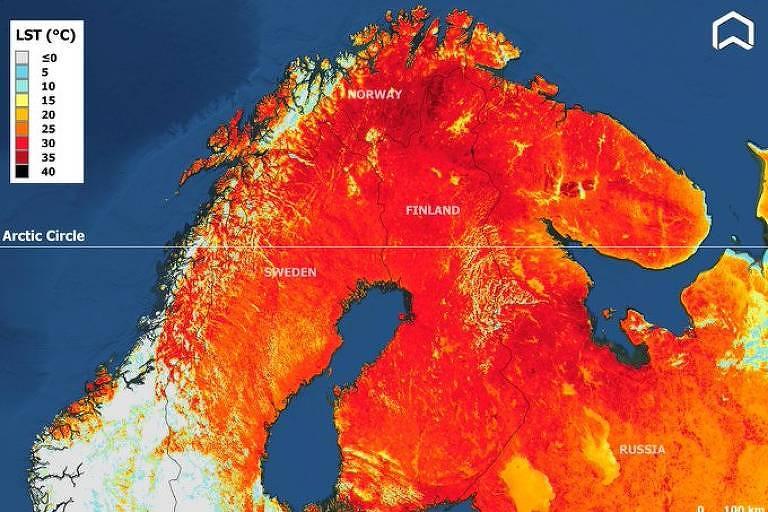 Onda de calor: 'Terra do Papai Noel' tem dia mais quente em mais de um século