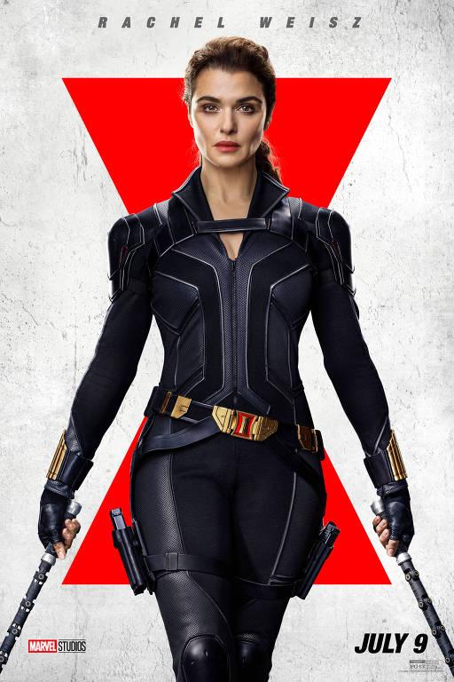 """Rachel Weisz em cartaz do filme """"Viúva Negra"""""""