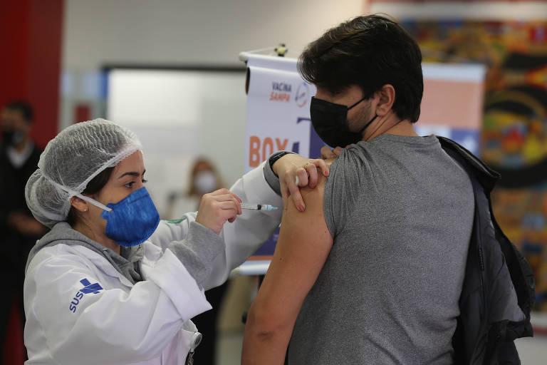 Começa vacinação de pessoas de 40 anos na capital paulista