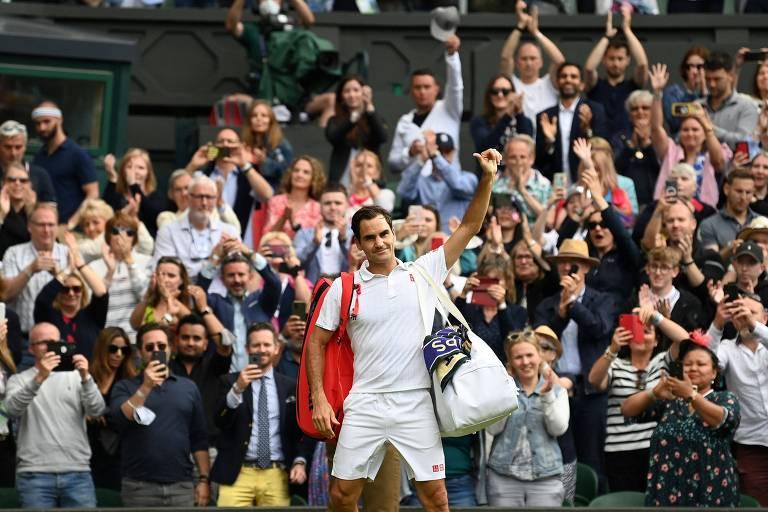 Dono de 8 títulos em Wimbledon, Federer cai nas quartas do torneio de tênis