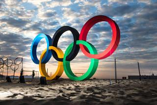 Aros olímpicos da Rio 2016