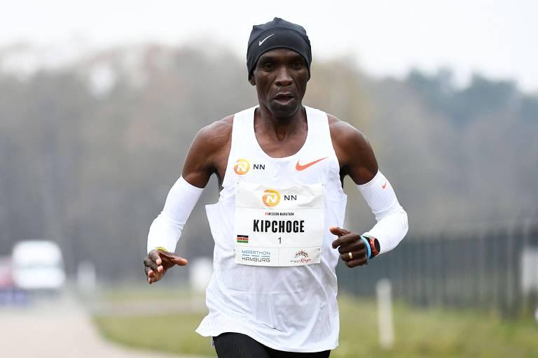 Corrida do ouro move Eliud Kipchoge, lenda da maratona