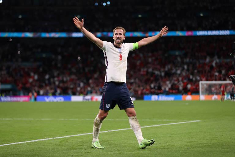 Harry Kane é a esperança de gols da Inglaterra na final da Euro