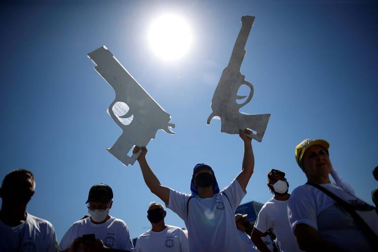Manifestação pró-armas e em defesa do governo Bolsonaro
