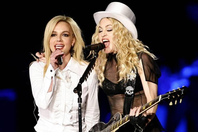 Madonna manda recado de apoio a Britney Spears: 'Devolvam a vida dessa mulher'