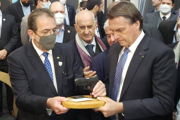 Bolsonaro em evento em Caxias do Sul (RS) sobre grafeno