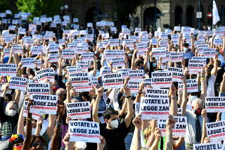 Protest in support of a proposed anti-discrimination bill, in Milan