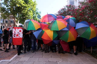 Protest against finance ministers from G20 countries and their policies as they meet in Venice