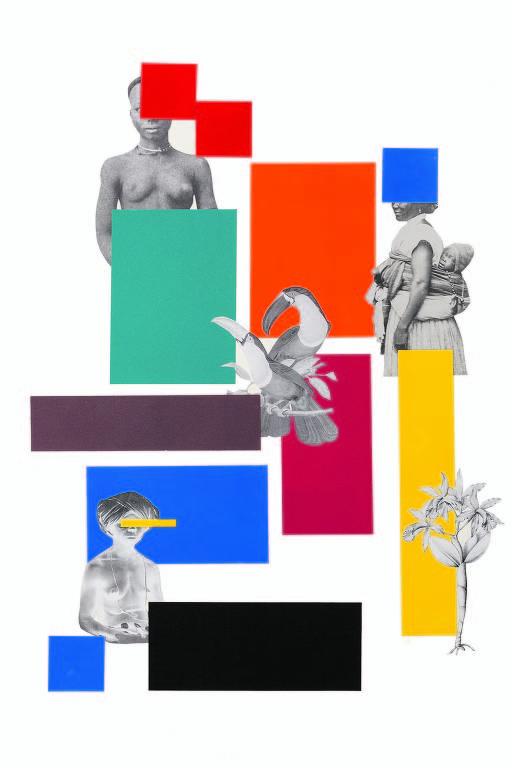 Ilustração de Rosana Paulino, artista visual e doutora pela Universidade de São Paulo, para texto de Djaimilia Pereira de Almeida