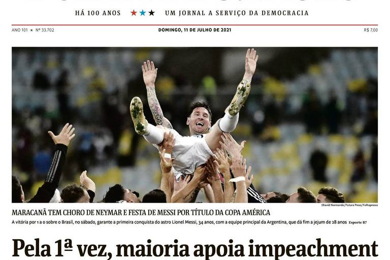 Até Messi comemorou Datafolha sobre impeachment, brinca leitor