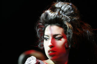Amy Winehouse performs at the Highline Ballroom.